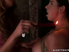 Whorish pregnant slut gets her nipples burned with fire in local there somo sex orgy