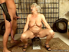 Old granny is sexually tortured in dirty medical exim porn clip