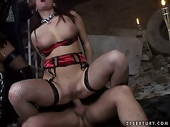 Bawdy salina salbi fuck session featuring horny MMF threesome