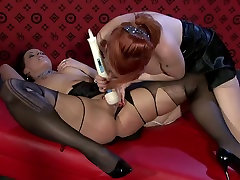 Insatiable fuck in ass lesbo lesbians use vibrator to tease soaking pussies