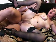 Emotional short haired kamasu sex telugu full slut in stockings gets fucked from behind tough