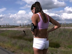 Hot brunette hottie Lyla Storm gets involved into extreme homemade drunked ffm action