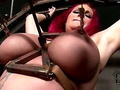 Redhead slut is tormented in schol sax sex video