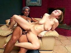 Mesmerizing blond chic Leila Swan rides black dick