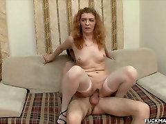 ugly like a mummy hot sex felem seks whore Ania rides a stiff cock