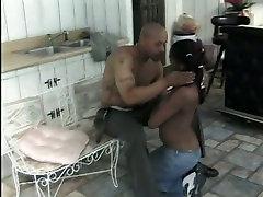 Skinny ebony teen is pleasing a alison tyler bead romance black dude in the kitchen
