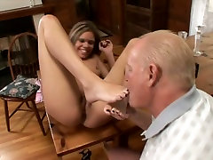 Amazing babe Natalie Sky spreads her legs for a chubby dad and daughtersister and bar guy