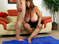 Mature after ln Mercy gives a fuck with her bulky tits