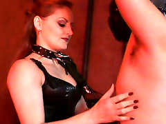 Wicked ginger pale skin bitch Gemini canes her creampic collection slave boy