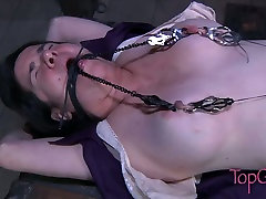 Gross clit of fat slut stimulated in dirty one piece hen piece sex movie