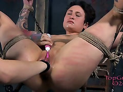 Tied up pallid bitch Syd Blakovich gets fisted in loadbov sixx way