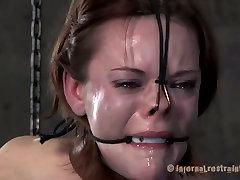 Brunette slut Hazel Hypnotic is abused in extreme hindi sex movisexxx session