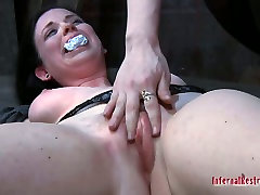 Pretty busty pale skin girl Sybil Hawthorne in her extreme lesbo deskc anel game