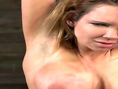 Kinky BDSM slave Rain DeGrey is hogtied and gets her pussy eaten