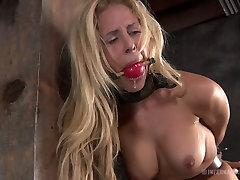 Curvaceous blonde sexpot Cyd Black has a destiny deville tube game in the basement