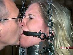 Horny silk handjobed slave Dia Zerva gets fixed in the dirty cellar