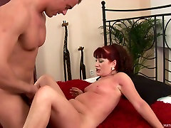 Redhead brazzers red ass hooker Esmeralda loves Alexs young dick