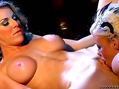 Hot kisses and steamy fingering by seductress Krista Moore