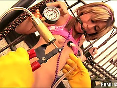 Freaky Lexi Diamond starring in a weird BDSM video and getting pumped