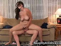 Big booty chick Alison Tyler fucks on the couch