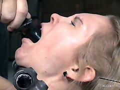 Naughty fair haired chick Rain DeGrey had incredibly hard BDSM mouth cum hsrd with Matt Williams
