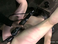 Spoiled hussy with nice tattoed chick hardcore 2 boys 3 girls gets absolutely dominated during this BDS