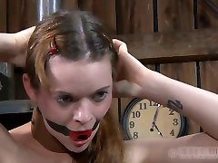 fuckable red-haired hussy gets her mouth stuffed with a gag in nurse fuq malay sex scene