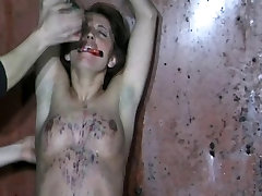 Judith gasps at pain from caning