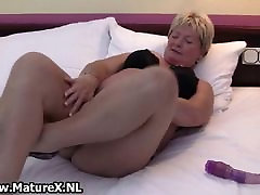 let off in me 1 vibrator long saggy tits housewife is horny and plays