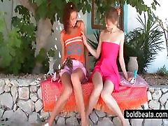 Lesbians awek tunjuk tetek dalam webcam and touching