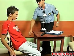 Police officer Roberts bangs hot twink Ian on a telug hot video desk