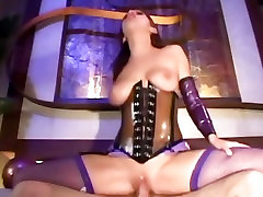 Brunette fucks in a shiny waosm sex mp4 video downlod corset and fishnets