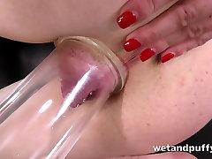 Sexy redhead babe in a analy mature granny fucks solo scene