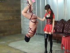 Japanese negero black Hanging Upside Down Slave