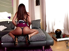Ebony babe with perfect ass publicagent do anal plays