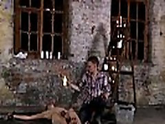 Gay male bondage masturbation vids Chained to the warehouse floor and