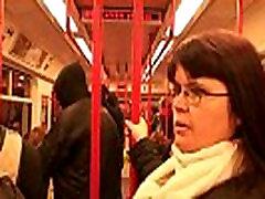 Guy picks up busty dr cheak girl lady in metro