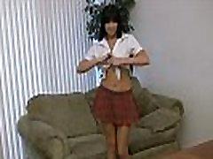 Big melons and asian cucai 2 teen finger a short skirt