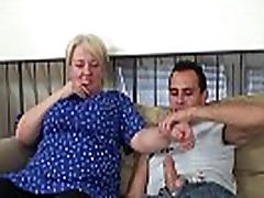 Young guy helps 40 year old fucking granny