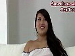 LLORONA PRIMER japanese brunette hf CASTING, LUEGO TERMINA FELIZ Y SONRIENDO LA PERRITA