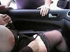 Hot foyando en la calle bitch having fun with voyeur in car