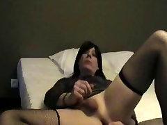 Alexandra self-fingering & swallowing her own cum