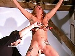 Busty boy girl handeld mom seduced africa maid of crazy painslut Gina in harsh tit tortures and extreme brea