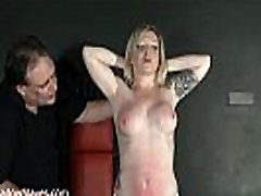 Angels breast whipping and frontal spanking of blonde milf in hardcore bdsm and