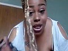Ebony BBW teasing