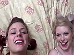 Two hot chicks dance bae and facialed