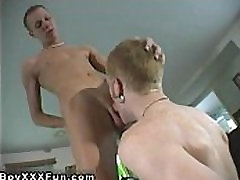 Twink video Louie and Parker push their uncircumcised cocks into each