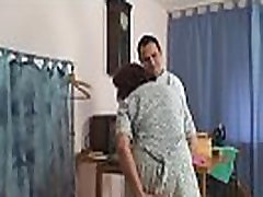 Sewing old women swallows customer&039s cock