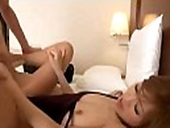 Cute Asian Girl In Aerobic Dress And Pantyhose Getting Her Hairy Pussy Fucked Ha