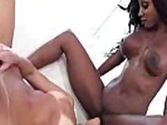Ebony fiknes anal hungry for white lips